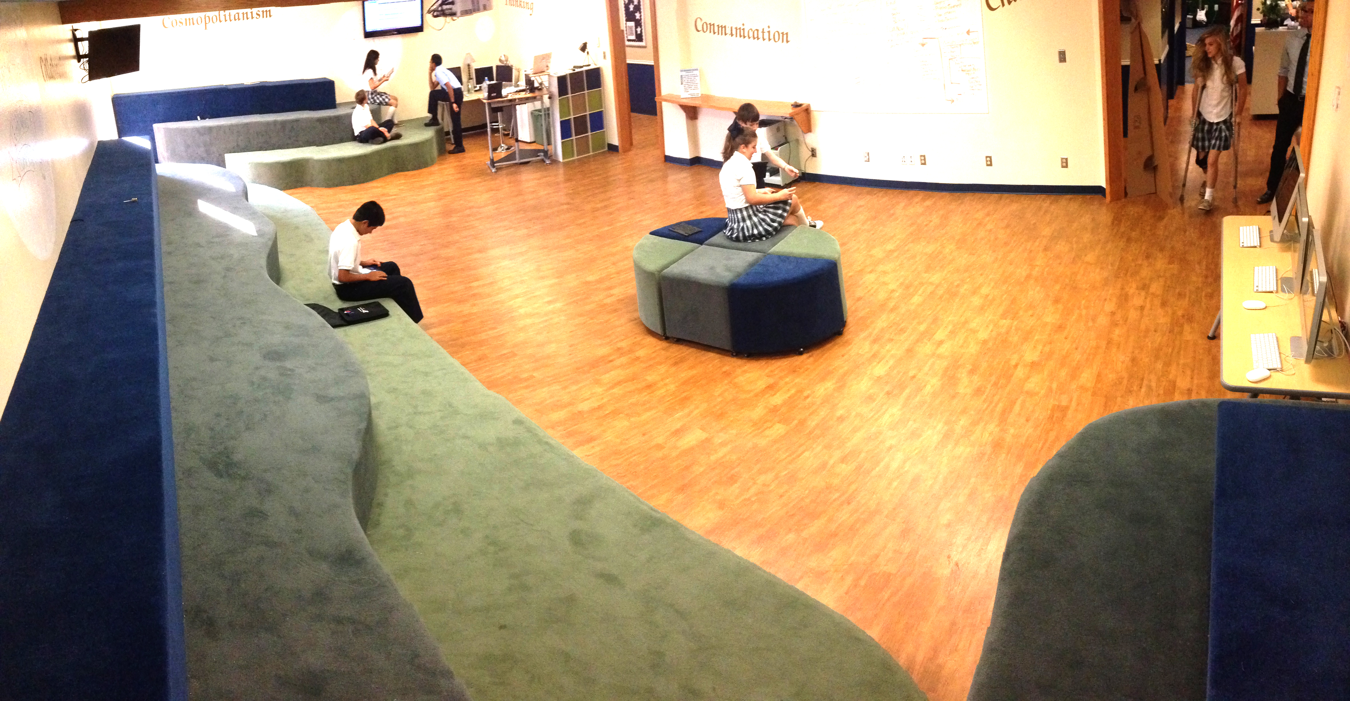 Students enjoy the Middle School Learning Commons